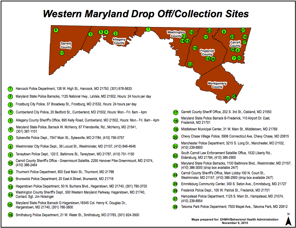 Drop Box Locations in MD